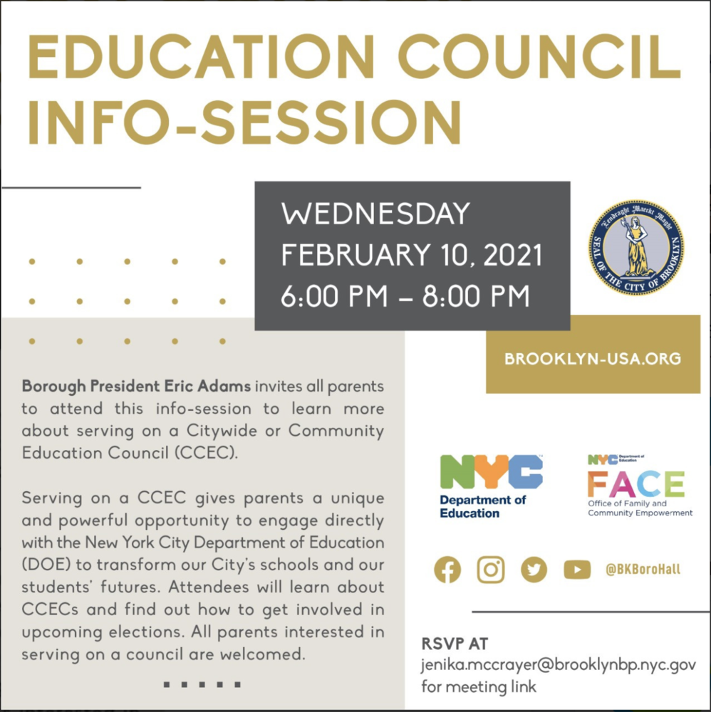 Education Council  Info- Session