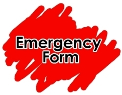 Complete your child's  Emergency Blue Card Contact Form:
